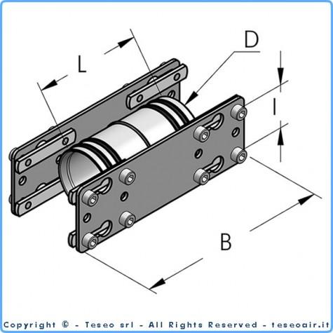 HBS25 прямая муфта, комплект