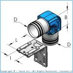 HBS80 г-образное соединение, комплект