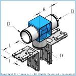 HBS32 т-образное соединение, комплект