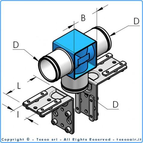 HBS63 т-образное соединение, комплект