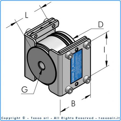 """HBS80 терминал с внутренней резьбой g1/4"""" bsp, комплект"""