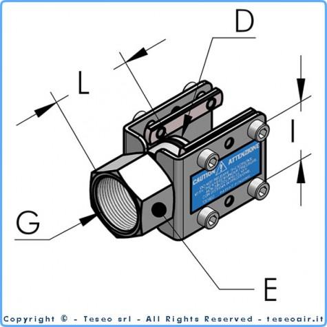 """HBS50 терминал с внутренней резьбой g1""""1/2 bsp, комплект"""