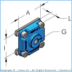 """Выходная накладка с внутренней резьбой G3/8"""" BSP I36, комплект"""