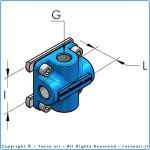 """Накладка с двумя выходами и внутренней резьбой g1/4"""" BSP I36, комплект"""