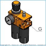 """Блок регулировки давления сжатого воздуха  G3"""" bsp (редуктор, фильтр, манометр)"""