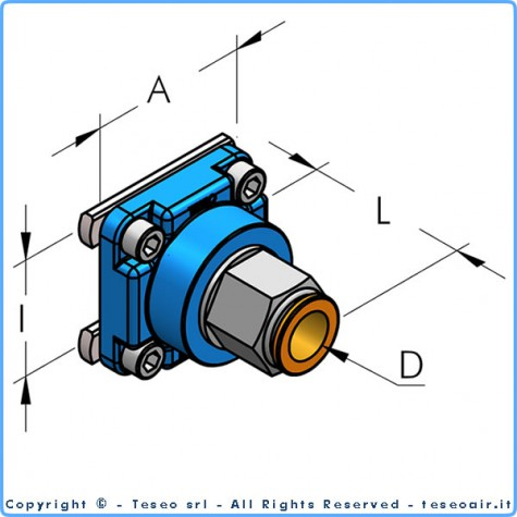 Накладка редукционная для отводной линии d14 i36, комплект