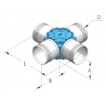 Крестообразное соединение для hbs110