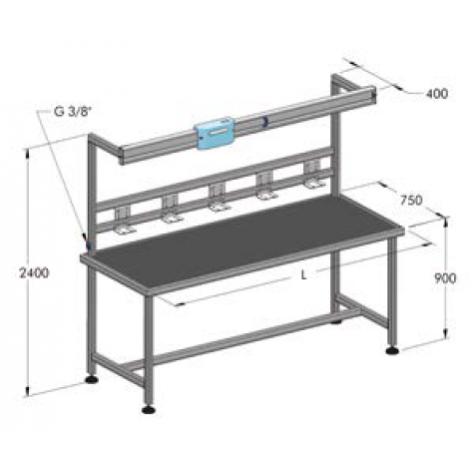 Wba - монтажный стол в комплекте, 2 м