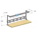 Wba - конструкция для стола электрифицированная 1,5 м
