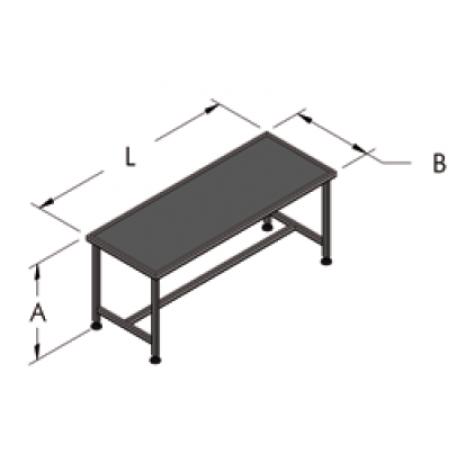 Рабочий стол в комплекте (в коробке, для сборки) 1,5 м