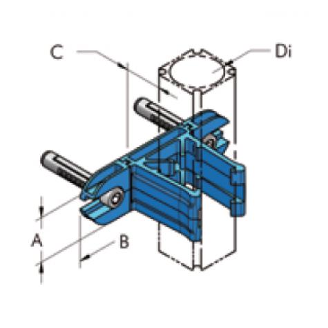 Ap28  крепёжный кронштейн защелкивающийся, комплект