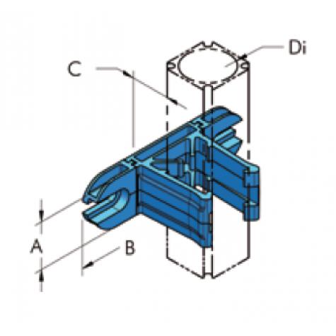 Ap28  крепёжный кронштейн защелкивающийся