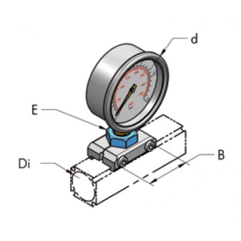 Ap22 глицериновый манометр, комплект
