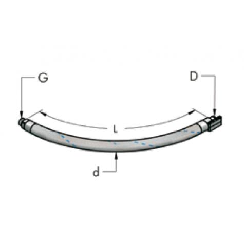 """Ap22-g1/2"""" bsp гибкий шланг для соединения с воздушным компрессором (15 бар)"""