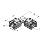Ap28 г-образное соединение для различных сред, комплект