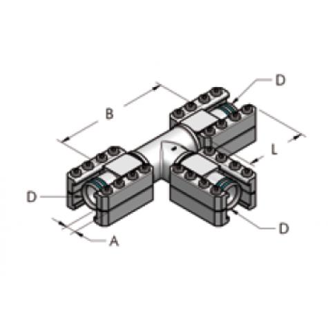 Ap54 т-образное соединение для различных сред, комплект