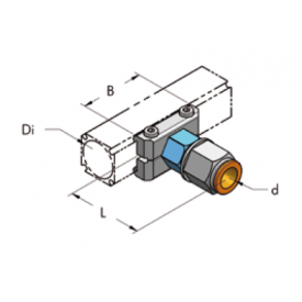 Ap22 накладка с быстроразъемной муфтой d14, комплект