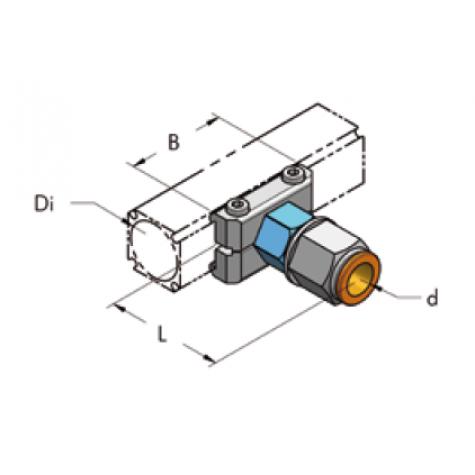Ap54 накладка с быстроразъемной муфтой d14, комплект