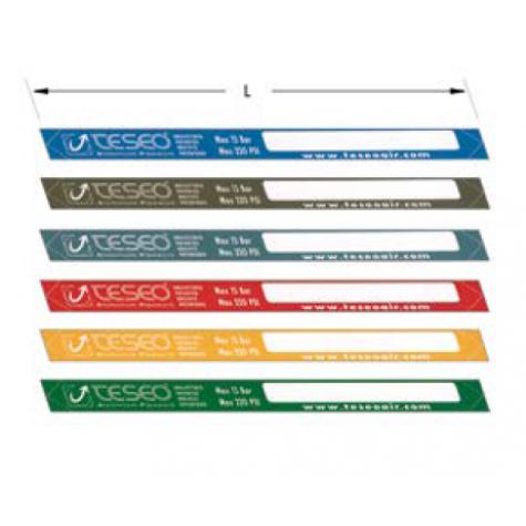 Цветные клеящиеся этикетки 15 бар 28 мм