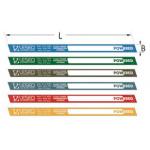 Цветные клеящиеся этикетки 25 бар 15 мм