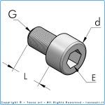 Винт m6x18 с цилиндрической головкой из оцинкованной стали