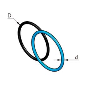 Уплотнительное кольцо голубое из nbr70 (бутадиен-нитрильный каучук) d16 d2