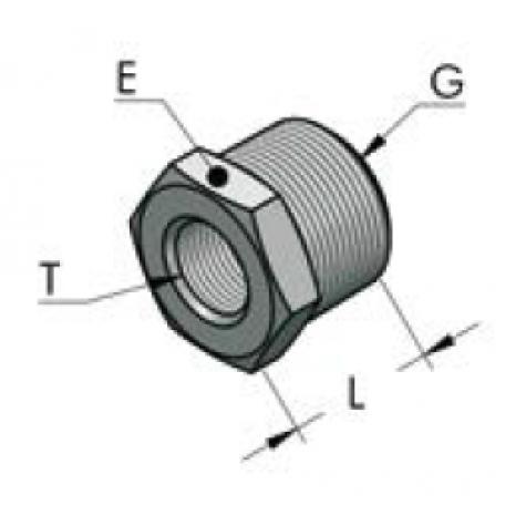 """Конический патрубок с внутренней/внешней резьбой ag/ig (g1/2"""" bsp-g1/4"""" bsp)"""