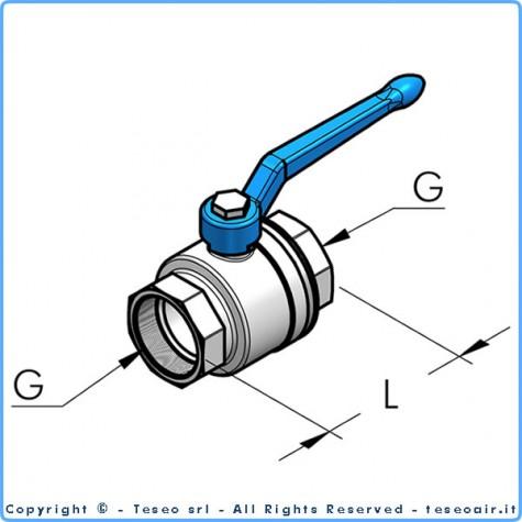"""Шаровый кран с внутр. резьбой g3/4"""" bsp с двух сторон"""