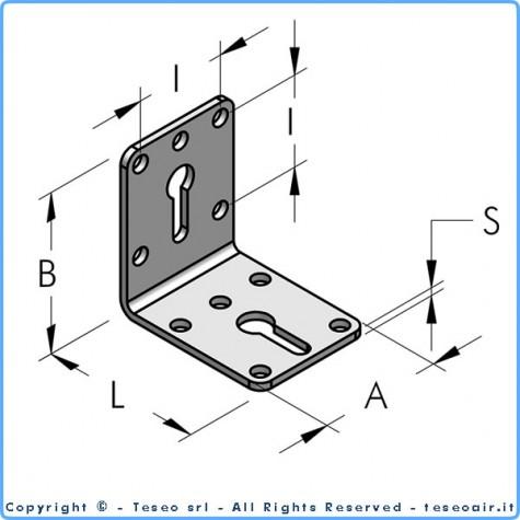 Г-образный крепёжный уголок а48 из оцинкованной стали