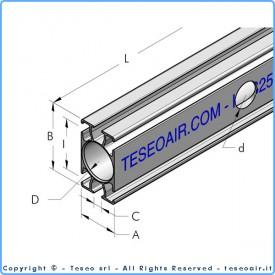 HBS25 профиль из экструдированного алюминия 5 м