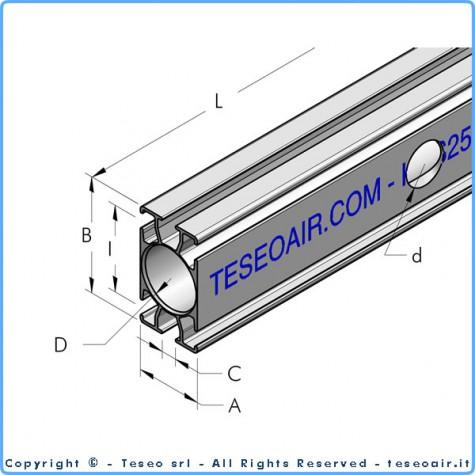 HBS63 профиль из анодированного экструдированного алюминия 5 м
