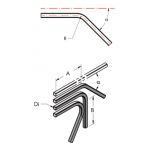 Ap36 труба, изогнутая под  углом  45°
