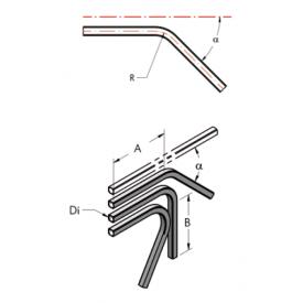 Ap22 труба, изогнутая под  углом  120°