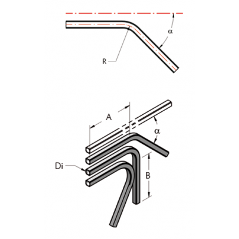 Ap28 труба, изогнутая под  углом  45°