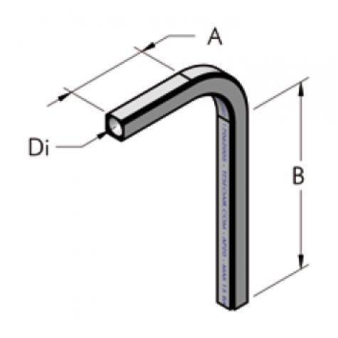 Ap22 труба, изогнутая под углом 90° b320