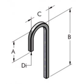 Ap22 труба, изогнутая под углом 180° b1210