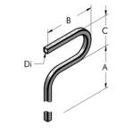 Ap28 труба, изогнутая под углом 180° а1000