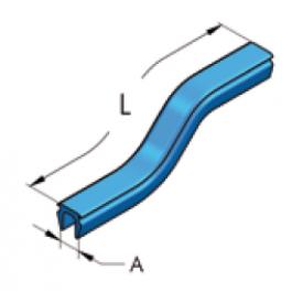 Мягкий пвх-профиль синего цвета